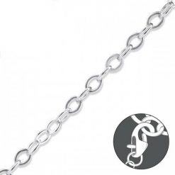 Cherry Amore - 19cm Sterling Silver Linked Chain Charm Necklace