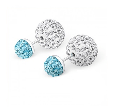Cherry Amore - Blue Crystal Double Studded Earrings