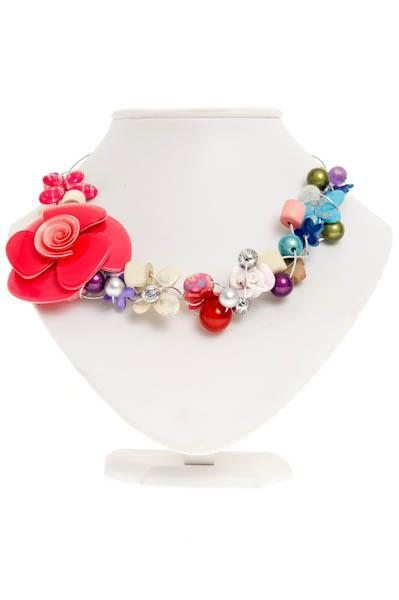 Cherry Amore - Large Pink Flower Choker