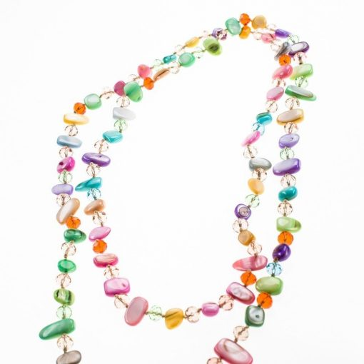 Cherry Amore - Natural Shell Necklace In Pastel Colours