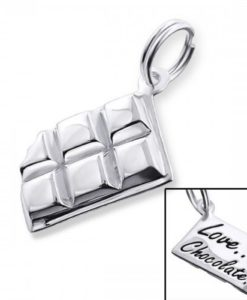 Cherry Amore - Sterling Silver Chocolate Bar charm