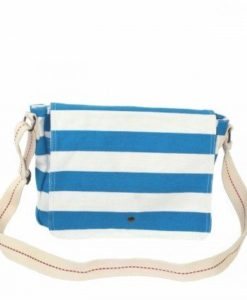 Cherry Amore - Blue & White Canvas Shoulder bag