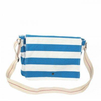 Cherry Amore - Blue & White Canvas Shoulder bag