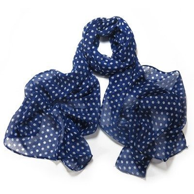 Cherry Amore - Polka Dot Scarf in Blue