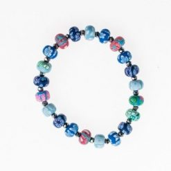 Cherry Amore - Multi-coloured Elasticated Ceramic Bead Bracelet