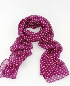Cherry Amore - Purple Scarf with White Polka Dots