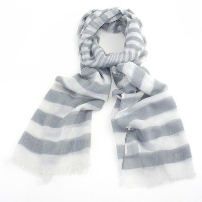 Cherry Amore - Grey Graduating Stripe Scarf