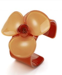 Cherry Amore - Large Acrylic Flower Bangle