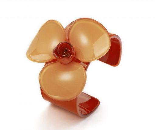 Cherry Amore - Large Acrylic Flower Bangle