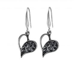 Cherry Amore - Black Love Dangle Earrings