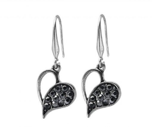 Cherry Amore - Black Love Dangle Earrings