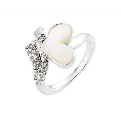 Cherry Amore - Silver Love ring with mother of pearl