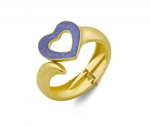 Cherry Amore - Blue Love Heart Bangle