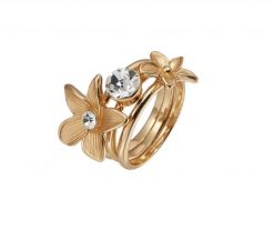 Cherry Amore - Stackable Gold Flower Ring
