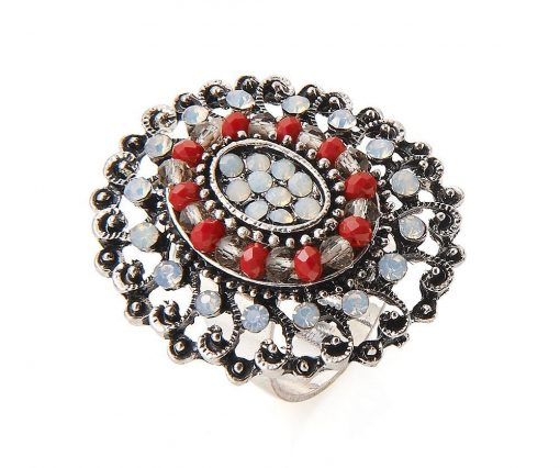 Cherry Amore - Antique Style Silver Ring