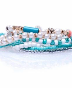 Cherry Amore - Blue Beaded Layered Bracelets