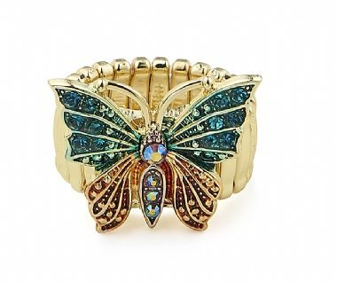 Cherry Amore - Gold Elasticated Butterfly Ring