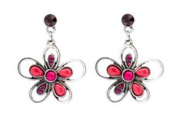 pink bouquet earrings